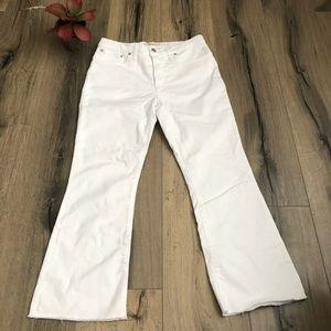 NEW Madewell 29 Cali Demi Boot Pure White Raw Hem